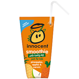 Innocent Kids Wedge Smoothie - Pineapple, Apple & Carrot - 16x150ml