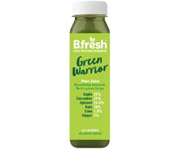 B Fresh - Green Warrior Fruit & Veg Juice - 6x250ml