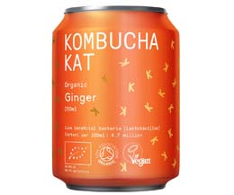 Kombucha Kat Can - Ginger - 12x250ml