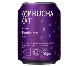 Kombucha Kat Can - Blueberry - 12x250ml