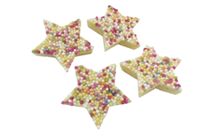 Christmas - White Chocolate Snowie Stars - 1x3kg
