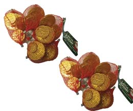 Milk Chocolate Coin Nets - 60x25g