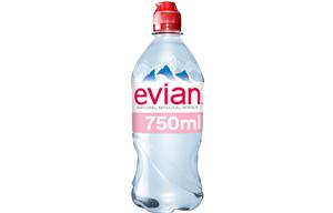 Evian Mineral Water - Sportscap - 12x750ml