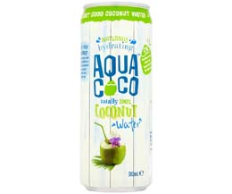 Aqua Coco Cans - Natural Coconut Water - 12x310ml