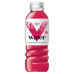 V Water - Pomegrante & Blueberry - 6x500ml