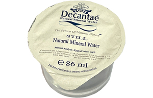 Decantae Water Cuplets - 100x86ml