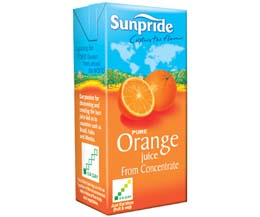 Sunpride Juices - 100% Orange - 12x1L