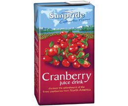 Sunpride Juices - 100% Cranberry - 12x1L