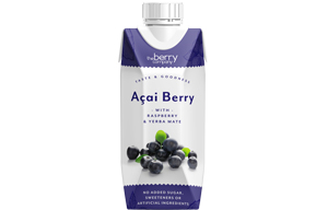 Berry Juice - No Added Sugar - Acai Raspberry & Yerba Mate - 12x330ml