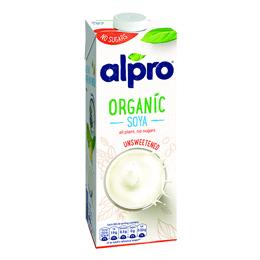 Alpro - Unsweetened Organic Soya Drink - 1x1L