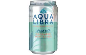 Aqua Libra Can - Cucumber, Mint & Lime - 24x330ml