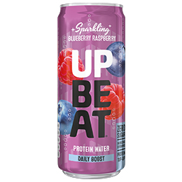 UpBeat Protein Water - Can - Sparkling Blueberry & Raspberry - 12x330ml
