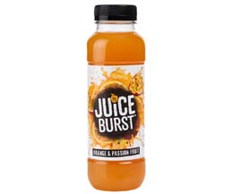 Juice Burst Juice Drink - 12x330ml - Orange & Passionfruit