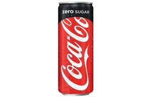 Coke Zero - Sleek/Slim Cans - 24x330ml