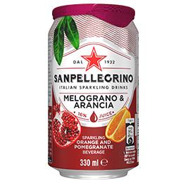 San Pellegrino - Melograno Arancia - 12x330ml Cans