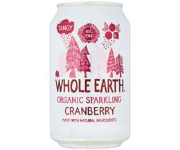 Whole Earth - Organic Cranberry - 24x330ml