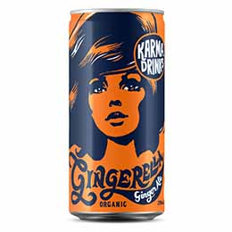 Karma - Gingerella Ginger Ale Cans - 24x250ml