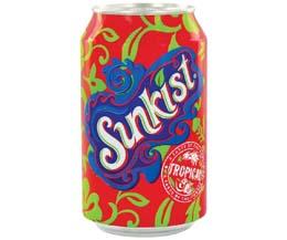 Sunkist Cans - Tropical - 24x330ml