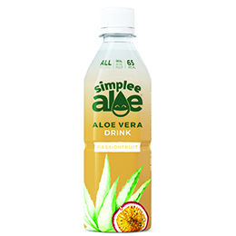 Simplee Aloe - Pet - Passionfruit With Pulp - 12x500ml