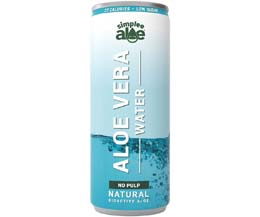 Simplee Aloe Can - Aloe Water - No Pulp - 12x250ml