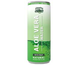Simplee Aloe - Can - Aloe Vera Water - With Pulp - 12x250ml