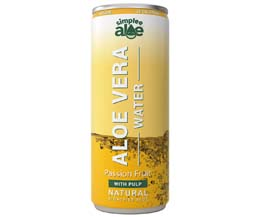 Simplee Aloe Can -Aloe Water-Passionfruit With Pulp-12x250ml