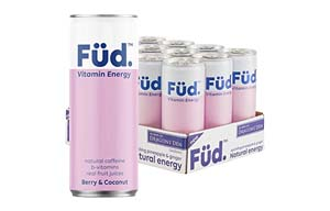 Fud Vitamin Energy - Can - Berry & Coconut - 12x250ml