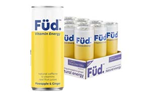Fud Vitamin Energy - Can - Pineapple & Ginger - 12x250ml