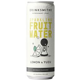 Drinksmiths - Sparkling Fruit Water - Lemon & Yuzu - 12x330ml
