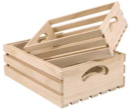 Rdp - Nest Of 3 Slatted Wooden Trays - 1x1