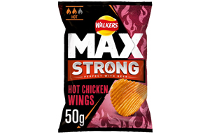 Walkers - Max Strong - Hot Chicken Wings - 24x50g