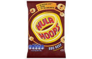 Hula Hoops - BBQ Beef - 32x34g