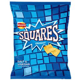 Walkers - Squares - Salt & Vinegar - 32x27.5g