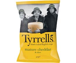 Tyrrells - Cheddar Cheese & Chive - 24x40g