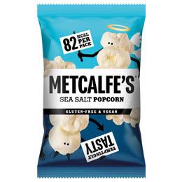 Metcalfes Skinny Popcorn - Sea Salt - 24x17g