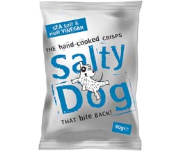 Salty Dog Crisps - Sea Salt & Malt Vinegar - 30x40g