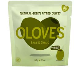 Oloves - Basil & Garlic - 10x30g Pouch