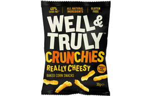Well & Truly Crunchies - Really Cheesy - 10x30g