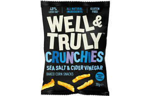 Well & Truly Crunchies - Sea Salt & Cider Vinegar - 10x30g