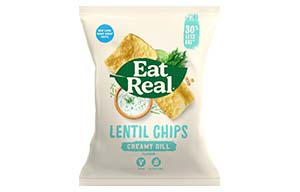 Eat Real - Lentil Chips - Creamy Dill - 12x40g
