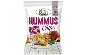 Eat Real - Hummus Chips - Tomato & Basil - 12x45g