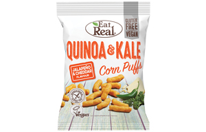 Eat Real- Quinoa & Kale Puff-White Cheddar & Jalapeno-12x40g