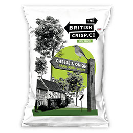 British Crisps - Cheese & Onion - 26x40g