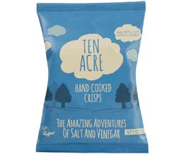 Ten Acre Crisps - Salt & Vinegar - 18x40g