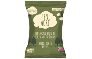 Ten Acre Crisps - Cheese & Onion - 24x40g