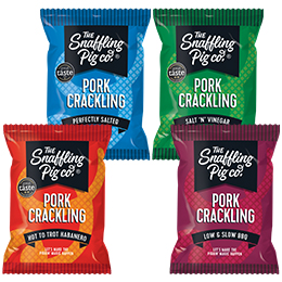 Snaffling Pig - Pork Crackling Mixed Box - 12x45g
