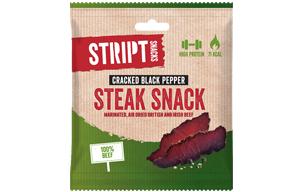 Stript Snacks - Cracked Black Pepper - 10x25g