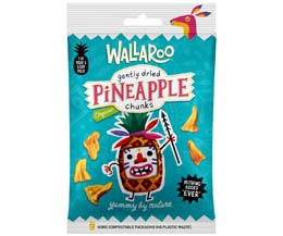Wallaroo - Organic Gently Dried Pineapple Chunks - 10x30g