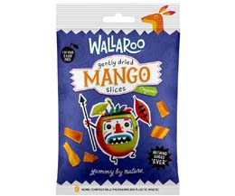 Wallaroo - Organic Gently Dried Mango Slices - 10x30g