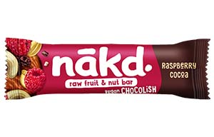 Nakd Chocolish Big Bite - Raspberry - 16x50g